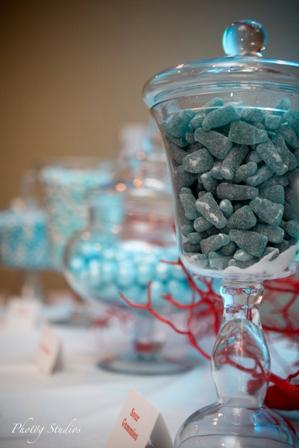 beach wedding candy station